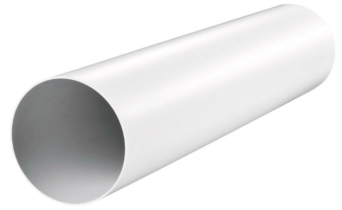 Канал круглый пластиковый, диаметр 125 мм (0,5 м) фото