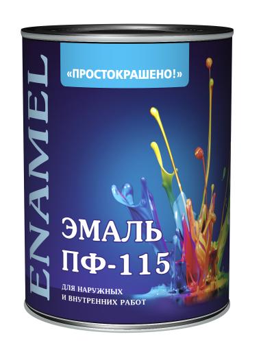 Empils Просто Краска ПФ-115 0.9 кг, Эмаль алкидная универсальная (черная)