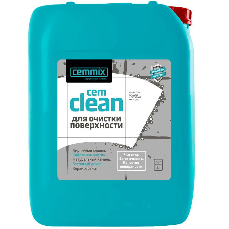 Очищающее средство Cemmix Cem Clean 5 л для высолов и остатков раствора.