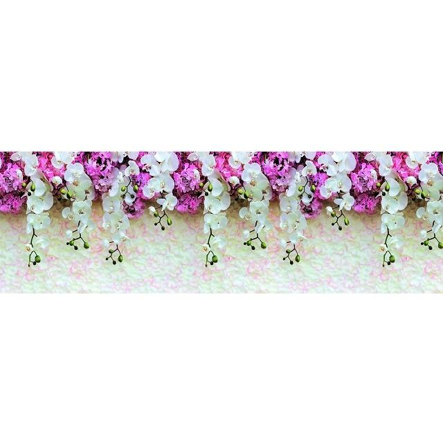 Фартук кухонный Требити Нежность орхидеи пластиковый 2000х600х15 мм.