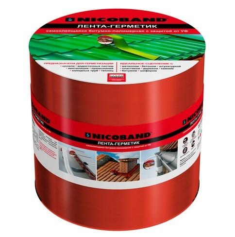 Лента герметизирующая NicobanD10000х150 мм красная самоклеящаяся.