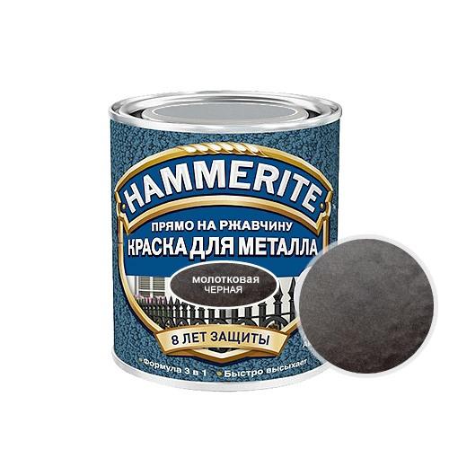 Hammerite Hammered, 5 л, Краска по металлу антикоррозийная алкидная черная молотковая фото