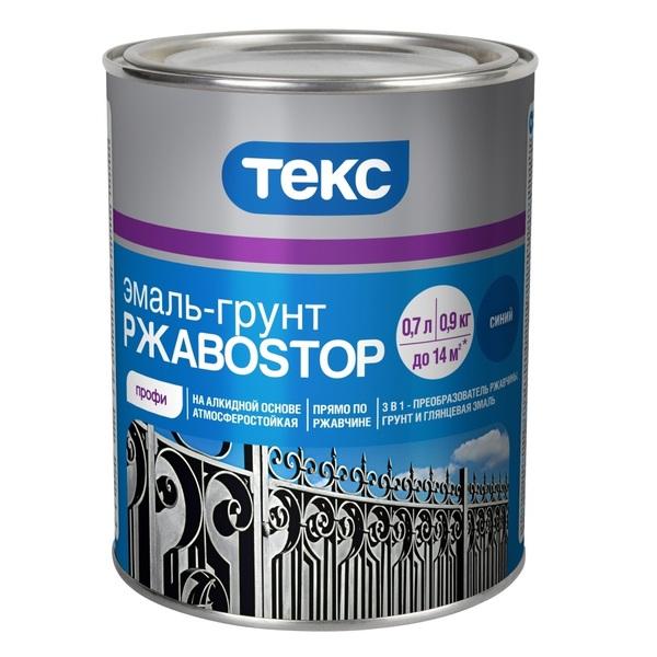 Текс РжавоSTOP 0.9 кг, Грунт-эмаль по ржавчине (красно-коричневая) фото