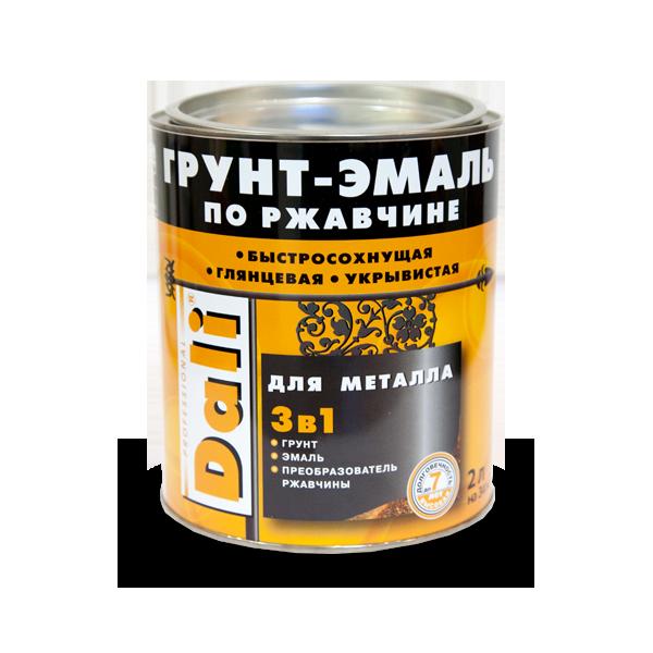 Dali 3 в 1 2 л, Грунт-эмаль алкидная по ржавчине (коричневая) фото