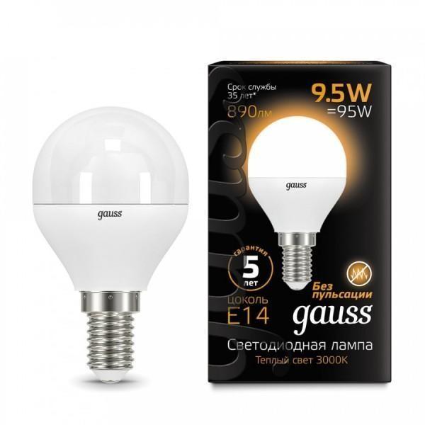 Gauss LED Globe E14 9.5W 3000K, Лампа фото