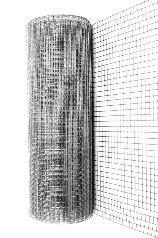 10х10х0.8 мм, 1х15 м, Сетка сварная оцинкованная фото