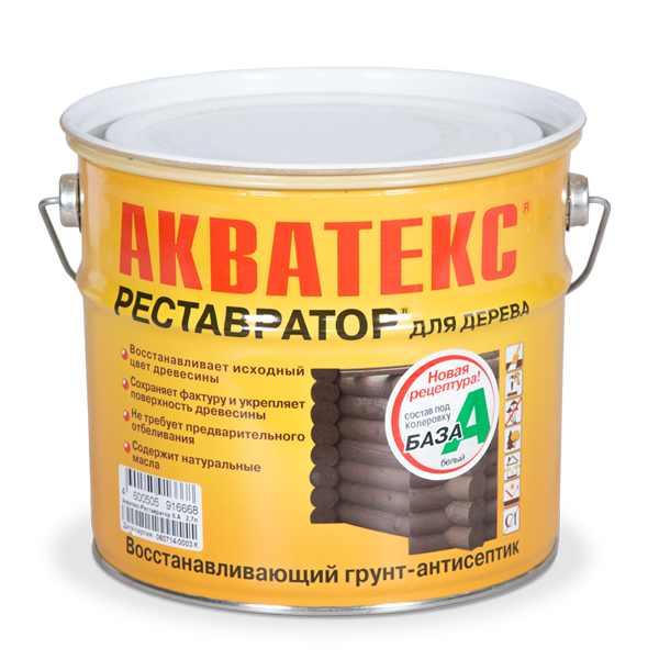 Рогнеда Акватекс Реставратор С, 2.7 л, Грунт-антисептик по дереву алкидный фото