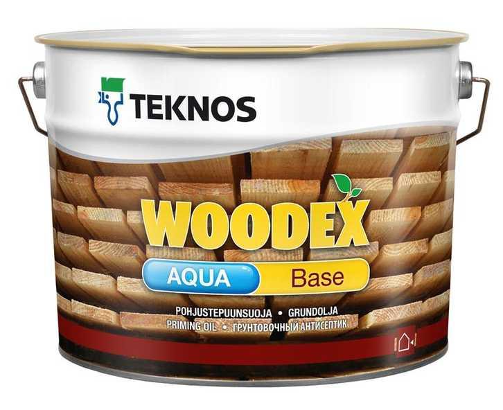 Teknos Woodex Aqua Base, 3 л, Грунт-антисептик по дереву масляный фото