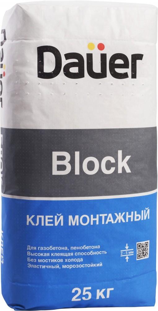 Dauer Block, 25 кг, Смесь монтажно-кладочная фото