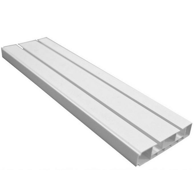 Шина пластиковая DDA 300 см потолочная двухрядная белая.