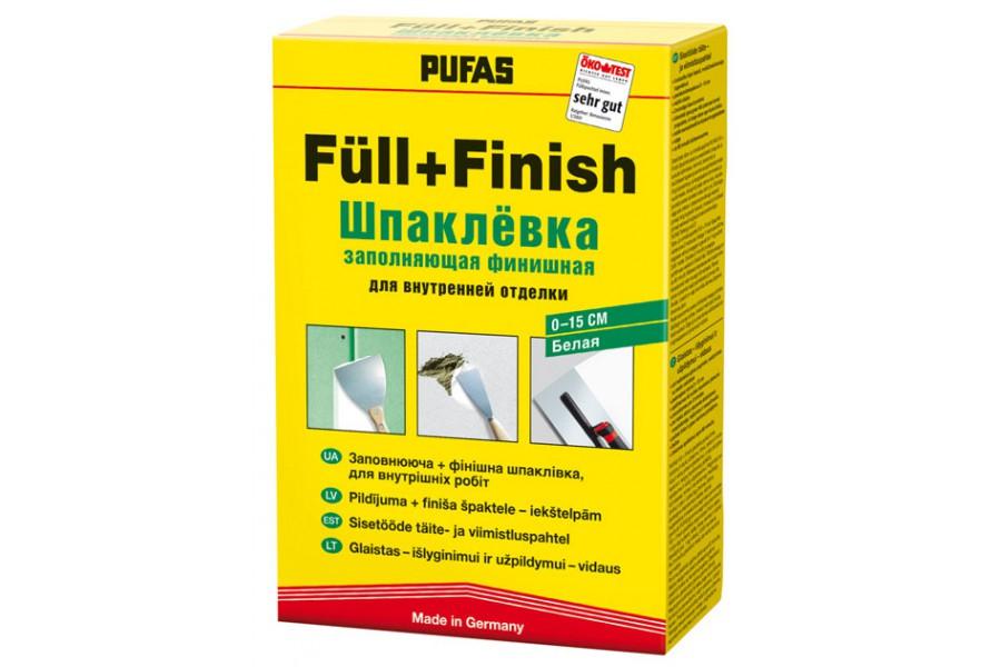 Pufas Füll+Finish 1 кг, Шпатлевка гипсовая финишная