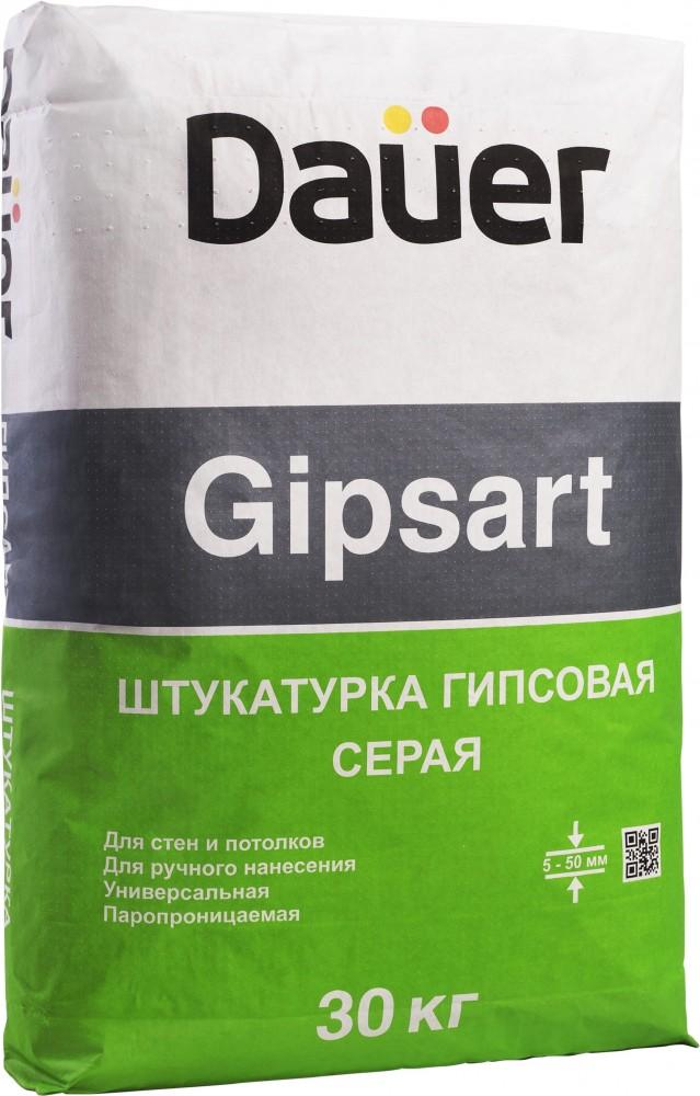 Dauer Gipsart, 30 кг, Штукатурка гипсовая универсальная серая фото