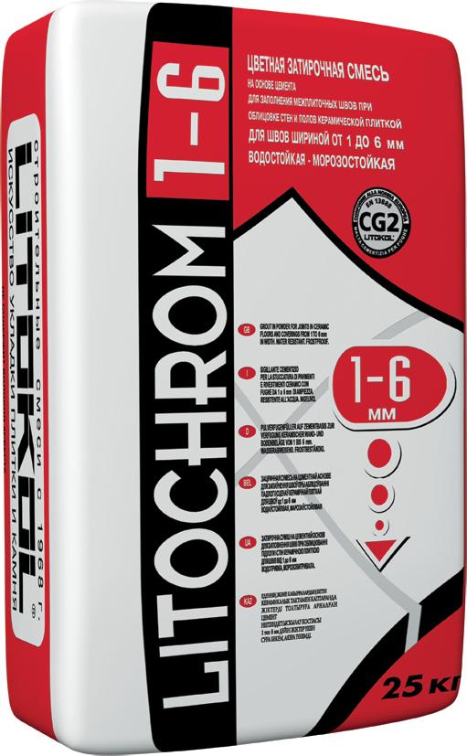 Litokol Litochrom 1-6 C.110, 25 кг, Затирка фото