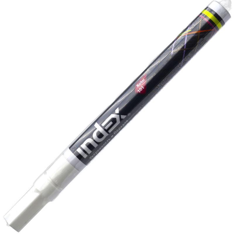 Маркер перманентный Index IPM101/WH (белый), 2 мм фото